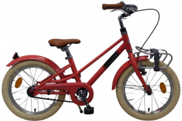 Volare Melody Kinderfiets - Meisjes - 16 inch - Pastel Rood - Prime Collection