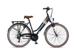 Umit Ventura Damesfiets 28 inch 21 speed - Blauw/Bruin