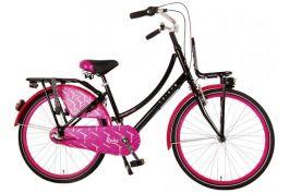 Volare Dolce N3 24 inch Meisjesfiets - Zwart/Roze 95% afgemonteerd
