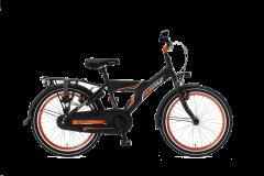 Popal Funjet X Jongensfiets 22 inch - Mat Zwart / Oranje
