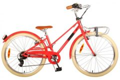 Volare Melody Kinderfiets - Meisjes - 24 inch - Pastel Rood - 6 speed - Prime Collection