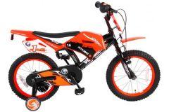 Volare Motorbike Kinderfiets - Jongens - 16 inch - Oranje - twee handremmen