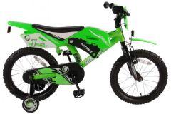 Volare Motobike Kinderfiets - Jongens - 16 inch - Groen - 95% afgemonteerd