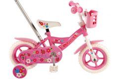 Volare Flowerie Kinderfiets - Meisjes - 10 inch - Roze/Wit