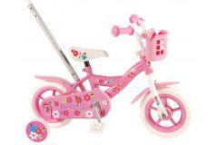 Yipeeh Flowerie Kinderfiets - Meisjes - 10 inch - Roze/Wit