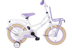 Spirit Omafiets 12 inch - Wit/Paars