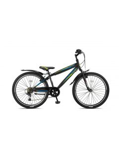 Altec Dakota Jongensfiets 7-Speed 26 inch - Zwart / Lime