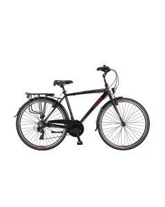 Umit Velo City Herenfiets  28 inch - Zwart / Rood