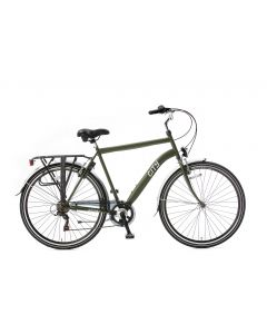 Popal City Herenfiets 28 inch 6 versnellingen - Army Green