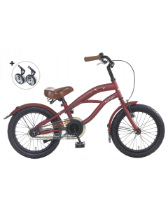 Popal BeachcPopal Black Fighter Jongensfiets 16 inch - Rood