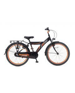 Popal Funjet Jongensfiets 24 inch N3 - Mat Zwart / Oranje