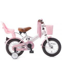 Popal Little Miss Meisjesfiets 12 inch - Wit