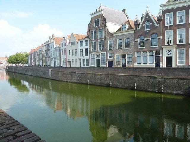 Fietsroute Middelharnis langs de havenkanalen van Goeree