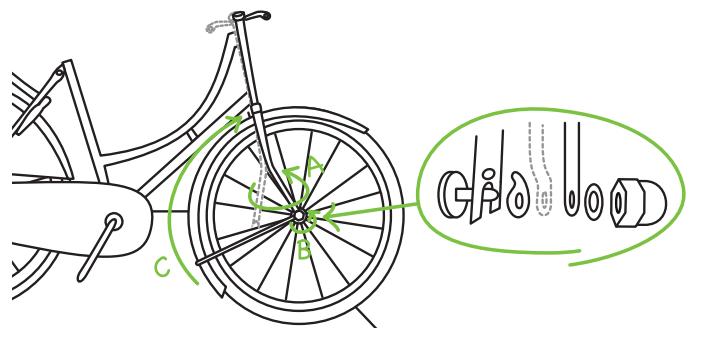 Voorwiel en spatbord - Popal fiets in elkaar zetten