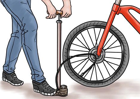 fiets oppompen